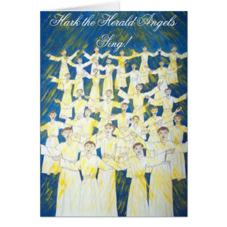 Hark the herald angels sing! greeting card