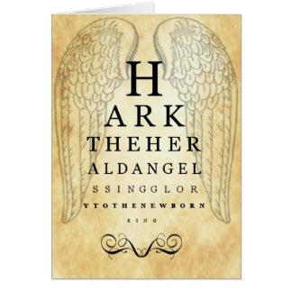Hark The Herald Angels Sing Eye Chart Greeting Car Greeting Card