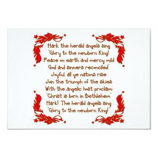 Hark the herald Angels sing... 9 Cm X 13 Cm Invitation Card