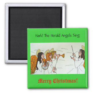 Hark! The Herald Angels Sing Square Magnet