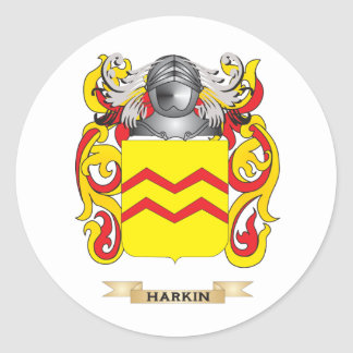 Harkin Coat of Arms (Family Crest) Round Sticker