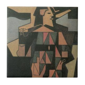 Harlequin by Juan Gris, Vintage Cubism Art Tile