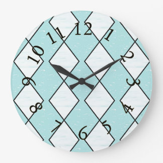 Harlequin_Classic-Turquoise(c)Multi-Choices Large Clock