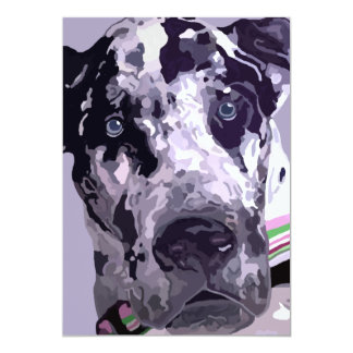 Harlequin Great Dane Card-great price! Card
