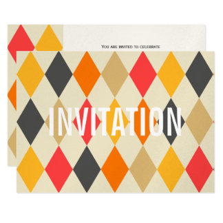 Harlequin Style   Party Invitation