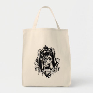 Harley Quinn Badge Tote Bag