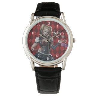 Harley Quinn With Fuzzy Dice Wristwatches