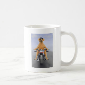Harley riding Labrador Coffee Mug