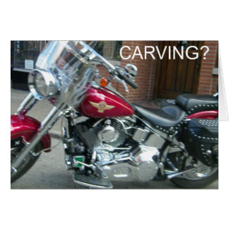 HARLEY STYLE CARVING FOR HALLOWEEN GREETING CARD