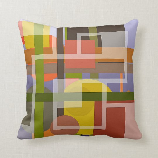 Harmonious Cushion with Modern Abstract Design