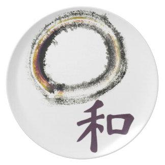 Harmony in Purple - Zen Enso Plate