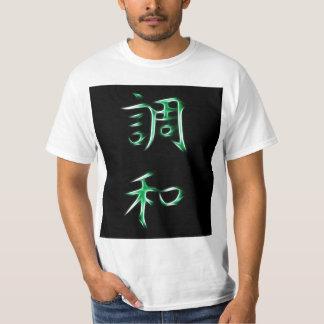 Harmony Japanese Kanji Calligraphy Symbol Shirts
