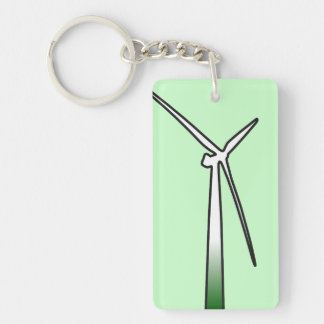 Harness The Wind Double-Sided Rectangular Acrylic Key Ring