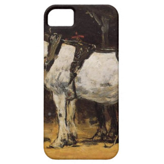 Harnessed Horses by Eugene Boudin iPhone 5 Cover