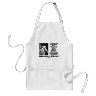 Harnessing A Waterfall Sun's Energy Tesla Quote Apron