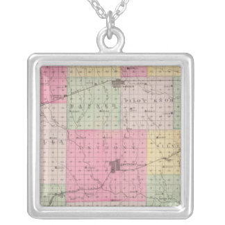 Harper County, Kansas Silver Plated Necklace