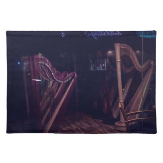 Harps in shadow placemat
