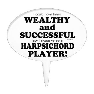 Harpsichord Wealthy & Successful Cake Toppers