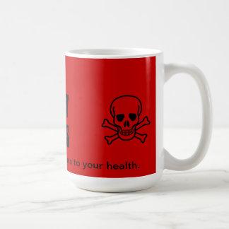Harpy Games mug.  Caution.