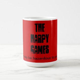 Harpy Games mug.  Caution. Coffee Mug