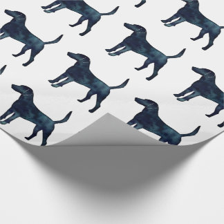 Harrier Hound Beagle Black Watercolor Silhouette Wrapping Paper