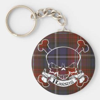 Harris Tartan Skull Keychain