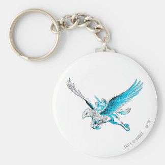 Harry and Hermione on a Hippogriff Key Ring