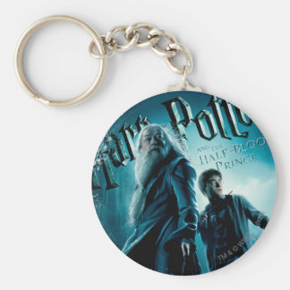 Harry Potter and Dumbledore on rocks 1 Key Ring