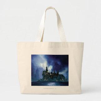 Harry Potter Castle | Hogwarts at Night Large Tote Bag