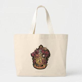 Harry Potter | Gryffindor Crest - Destroyed Large Tote Bag
