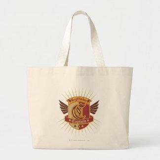 Harry Potter | Gryffindor QUIDDITCH� Captain Emble Large Tote Bag