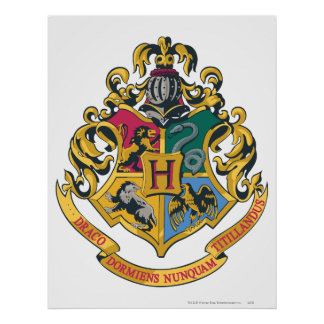 Harry Potter | Hogwarts Crest - Full Colour Poster