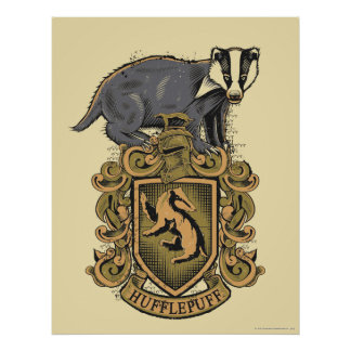 Harry Potter | Hufflepuff Crest with Badger Poster