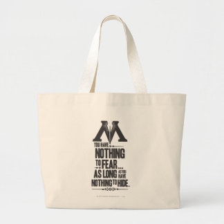 Harry Potter Spell | Ministry of Magic Propaganda Large Tote Bag