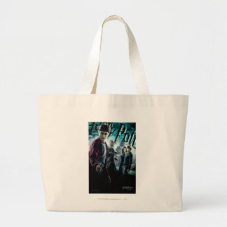 Harry Potter With Dumbledore Ron and Hermione 1 Large Tote Bag