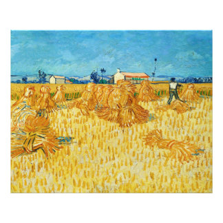 Harvest in Provence by Vincent Van Gogh Photo