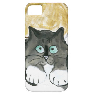Harvest Moon and Tuxedo Cat iPhone 5 Cases