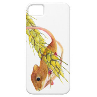 Harvest Mouse on Ear of Wheat Watercolour Painting iPhone 5 Cases