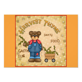 "harvest time invitation 5"" x 7"" invitation card"