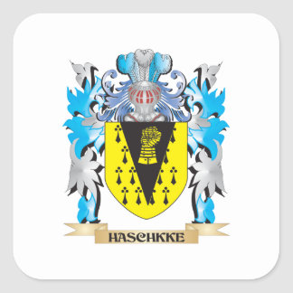 Haschkke Coat of Arms - Family Crest Square Sticker