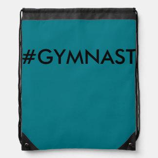 Hashtag Gymnast Draw String Bag Backpack