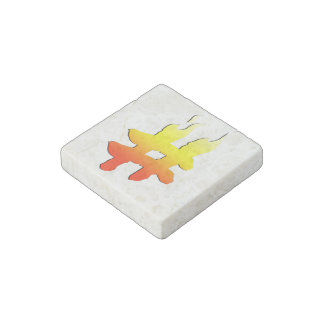 #HASHTAG - Hash Tag Symbol on Fire Stone Magnet