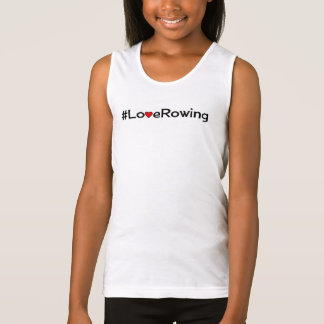 Hashtag Love Rowing slogan Singlet