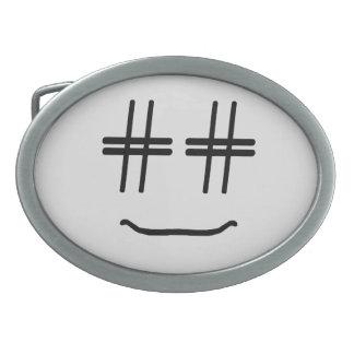 # Hashtag Smiley Face Social Media Blogger Humor Belt Buckle