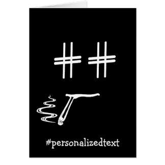 # Hashtag Smiley Face Social Media Blogger Humor Card