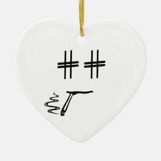 # Hashtag Smiley Face Social Media Blogger Humor Christmas Ornament
