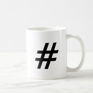 hashtag text symbol letter coffee mug