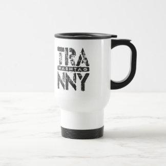 Hashtag TRANNY - Love Rebuilt Transmissions, Black Stainless Steel Travel Mug