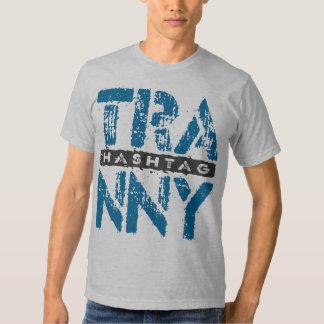 Hashtag TRANNY - Love Rebuilt Transmissions, Blue Tshirts