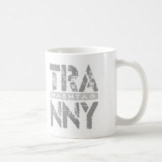 Hashtag TRANNY - Love Rebuilt Transmissions, Gray Basic White Mug